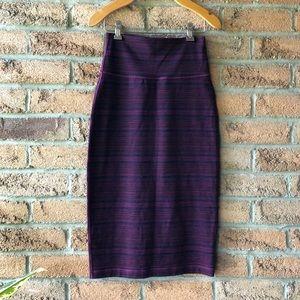 LULULEMON | Purple long striped fall size 4 rare Lululemon winter skirt